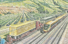 Study of Aerodynamics problem resulted when high speed trains pass freight trains on mixed traffic lines